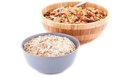 Muesli in the bowls Stock Photo