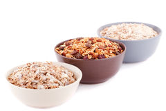 Muesli in the bowls Royalty Free Stock Photos