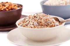 Muesli in the bowls Stock Photography