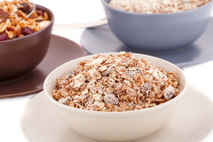 Muesli in the bowls Stock Photos