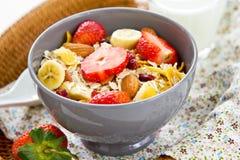 Muesli breakfast Royalty Free Stock Images