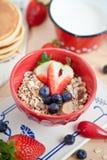 Muesli for breakfast Royalty Free Stock Photography
