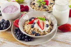 Muesli breakfast with  berries Royalty Free Stock Image