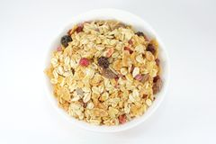 Muesli Breakfast In A Bowl or Cup Royalty Free Stock Photography