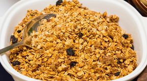 Muesli Breakfast cereal at brunch Spring Festival picnic event royalty free stock photos