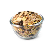 Muesli breakfast placed in the bowl Stock Photography