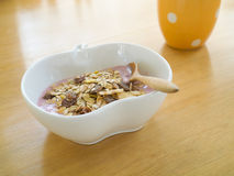 Muesli breakfast Royalty Free Stock Images