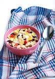 Muesli casalinghi con yogurt Immagine Stock