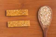Muesli Cereal Bars. Nutri, Oat, Protein Bars. Royalty Free Stock Photos