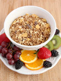 Muesli cereal with fruit Stock Photography