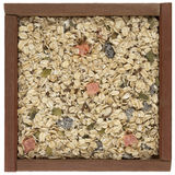 Muesli cereal in a wooden box Stock Photography