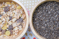 Muesli and chai seed Stock Image