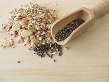 Muesli with chia seeds Royalty Free Stock Photos
