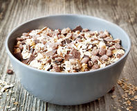 Muesli with Chocolate Flakes Stock Photography