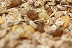 Muesli closeup background Royalty Free Stock Photos