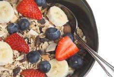 Muesli com fruta fresca Imagens de Stock