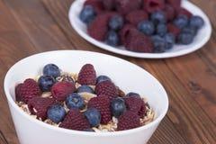Muesli com frutas frescas Fotografia de Stock Royalty Free