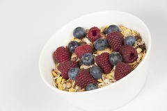 Muesli com frutas frescas Foto de Stock Royalty Free
