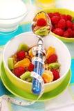 Muesli com frutas frescas como o alimento da dieta Imagens de Stock