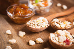 Muesli with confiture Stock Images