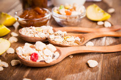 Muesli with confiture Royalty Free Stock Photo