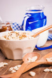 Muesli with confiture Royalty Free Stock Photography