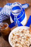 Muesli with confiture Royalty Free Stock Photos