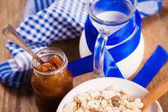Muesli with confiture Stock Photography