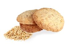Free Muesli Cookies.Oat Cookies. Homemade Biscuits, With Oat Flakes I Stock Photos - 105520283