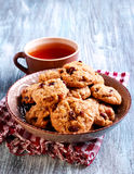 Muesli crunchy cookies on table Royalty Free Stock Photography