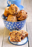 Muesli and date muffins Royalty Free Stock Photos