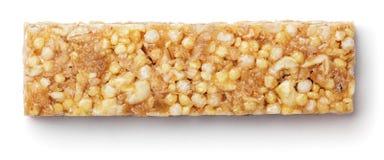 Muesli de barre de granola ou barre de céréale d'isolement sur le blanc Image stock