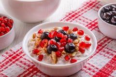 muesli de fruit frais Image libre de droits