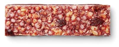Muesli della barra di Granola o barra del cereale isolata su bianco immagini stock libere da diritti