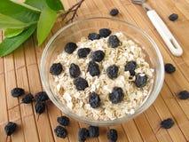Muesli with dried aronia berries Stock Image