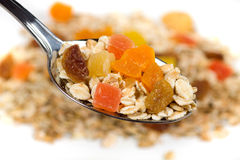 Muesli with dried fruit Stock Photography
