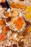 Muesli with dried fruit Stock Images