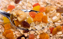 Muesli with dried fruit Royalty Free Stock Photos
