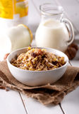 Muesli dried fruit in the bowl Royalty Free Stock Photography