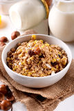 Muesli dried fruit in the bowl Stock Image