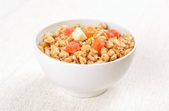 Muesli with dried fruits Royalty Free Stock Photography