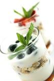 Muesli e yogurt foto de stock