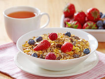 Muesli with fresh berries Stock Photos