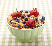Muesli with fresh berries Royalty Free Stock Images