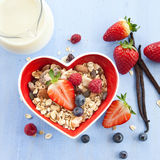 Muesli with fresh berries Royalty Free Stock Image