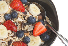 Muesli with Fresh Fruit Stock Images