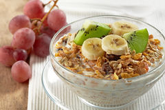 Muesli with fresh fruits Stock Images