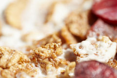 Muesli with fresh fruits as diet food Royalty Free Stock Photo