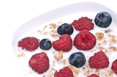 Muesli with fresh fruits in a bowl Royalty Free Stock Photo