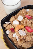 Muesli with fresh fruits Royalty Free Stock Photos